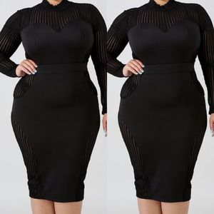 Dresses & Skirts - Black Midi Dress